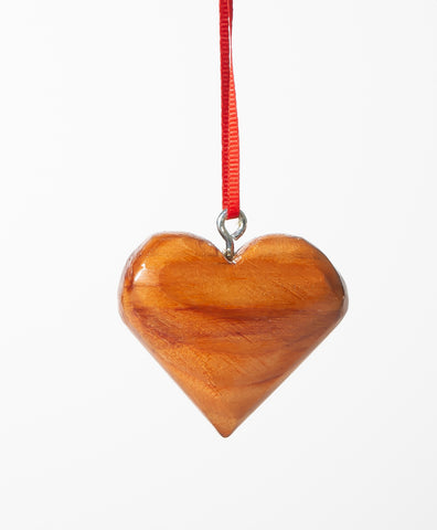 Mayflower II Wooden Heart Ornament
