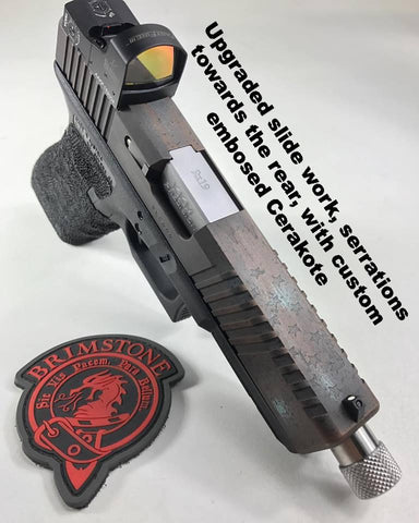 Custom Glock slide, Red dot milling, Cerakote, star spangled banner, patriotic