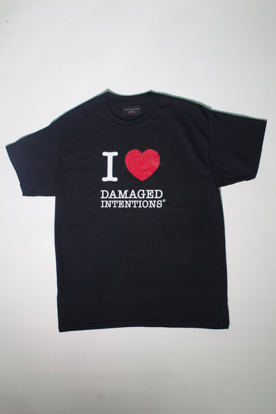 I LOVE DAMAGED INTENTIONS TEE