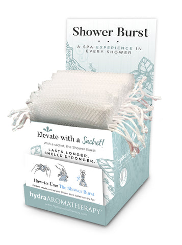 Shower Burst Sachet Display