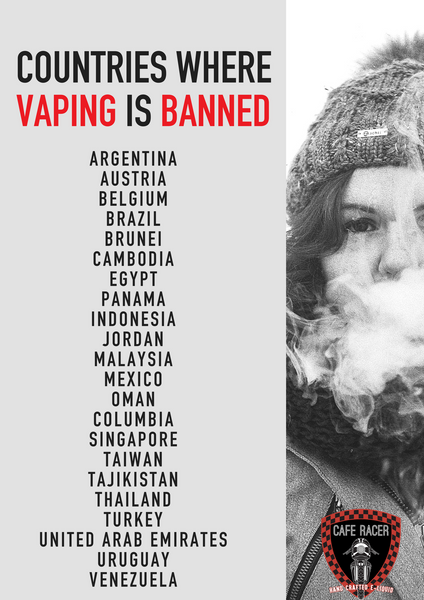Travel Tips: Countries Where Vaping is Banned or Restricted - Cafe