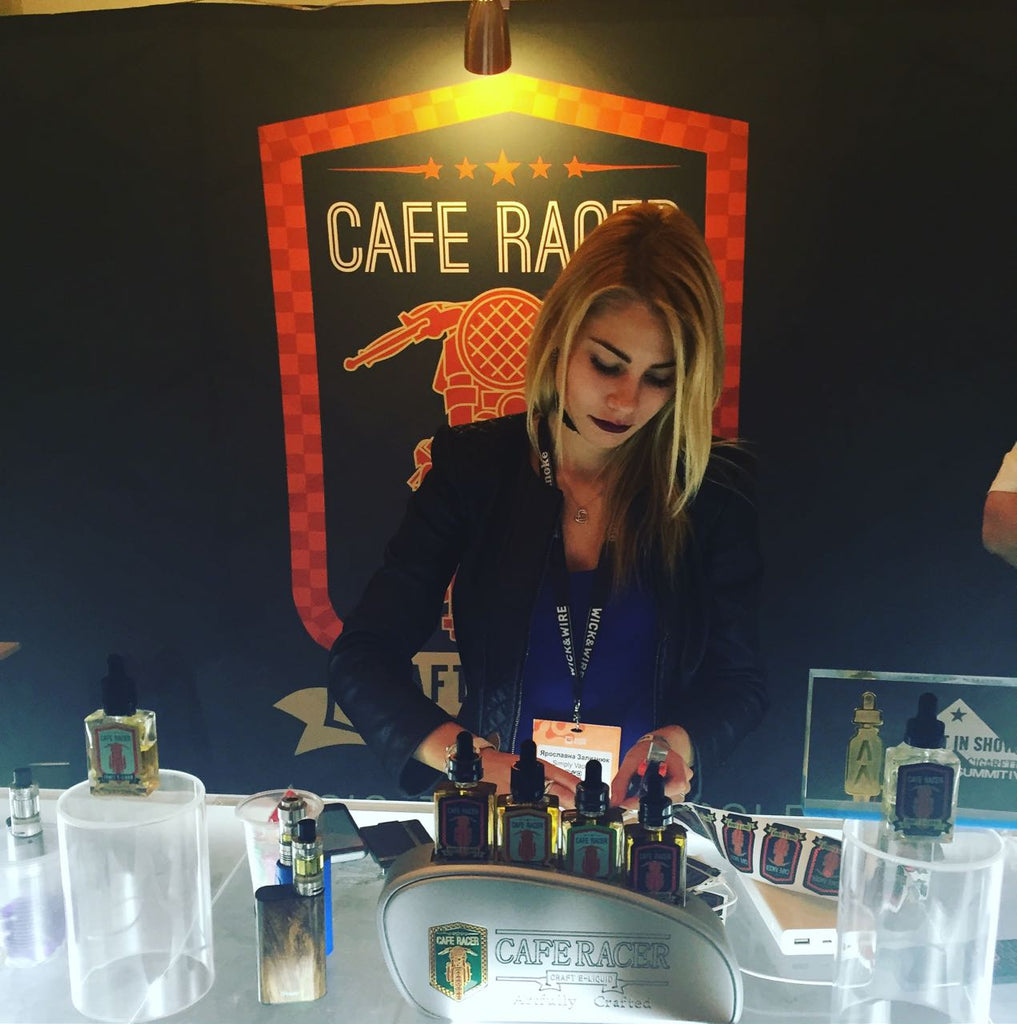 cafe racer booth kiev ukraine vape expo