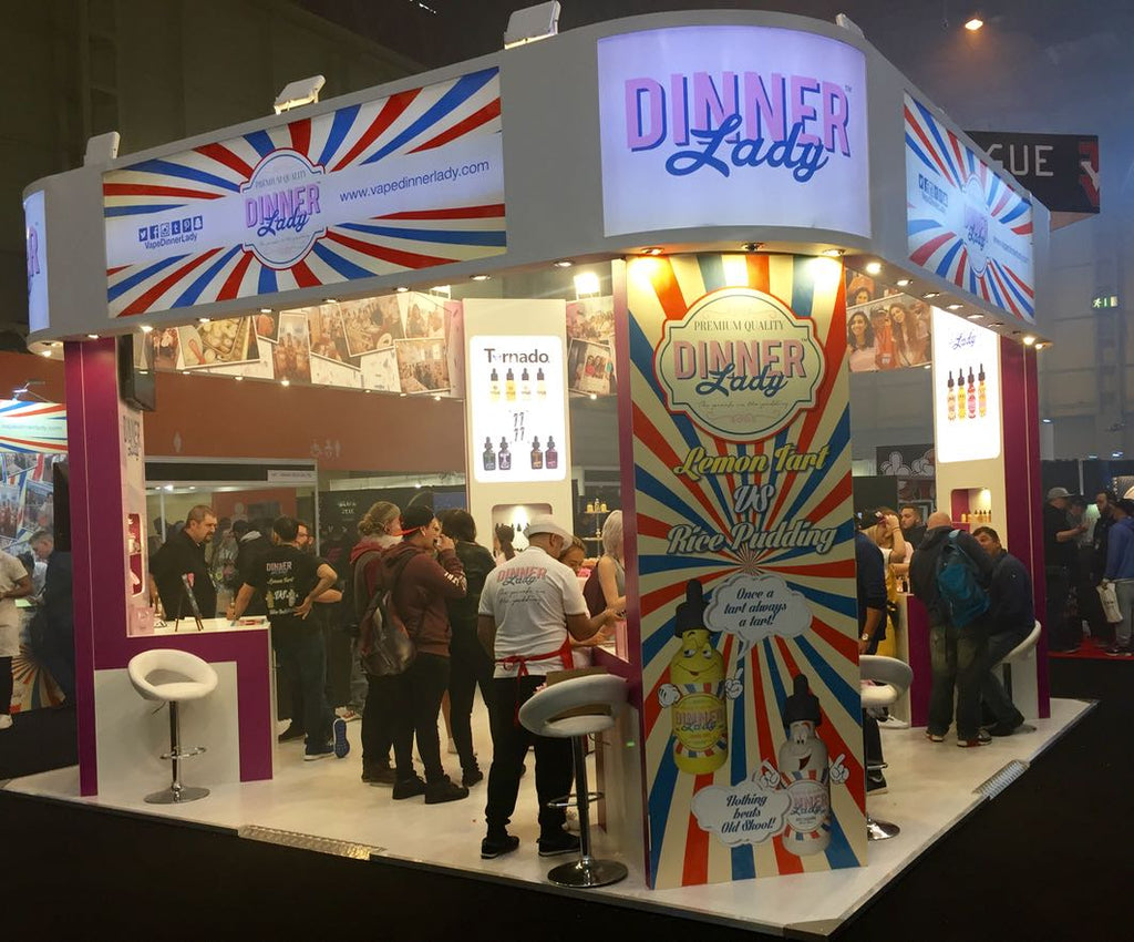 Dinner Lady booth at Vaper Expo UK