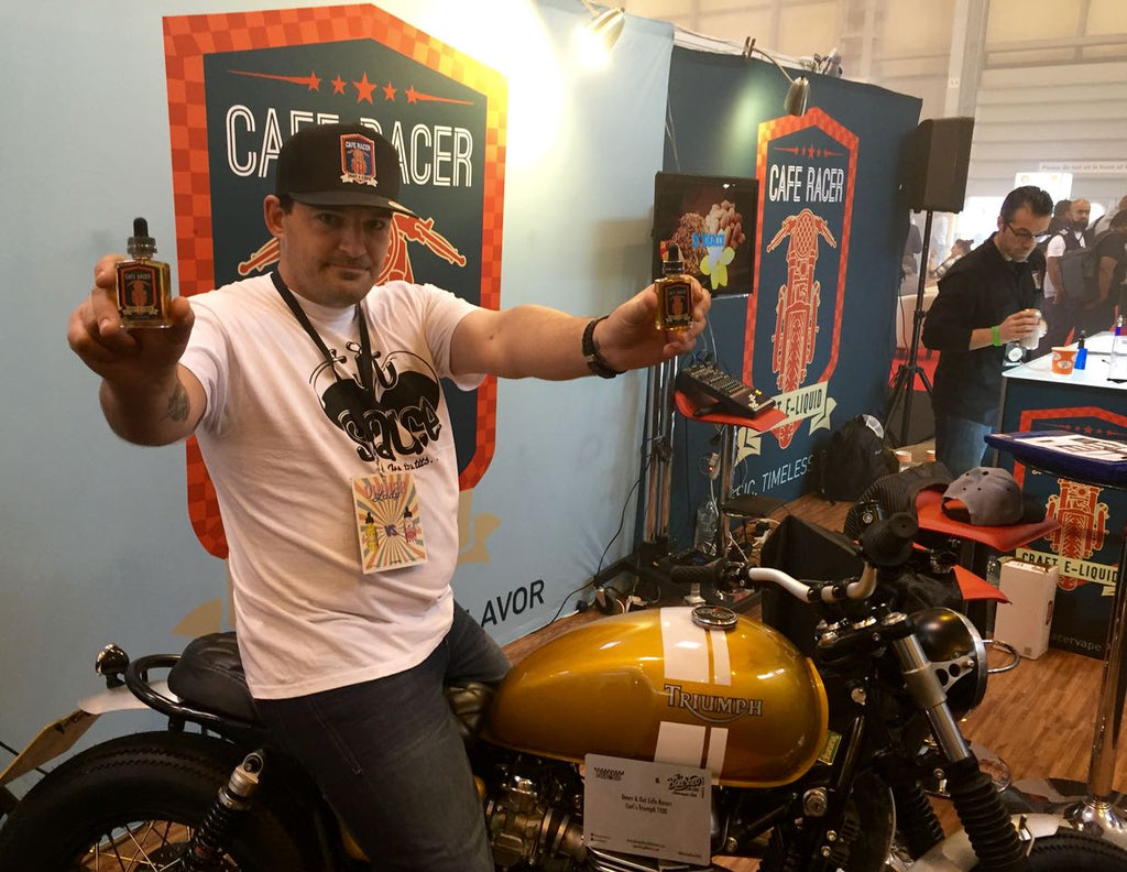 Cafe Racer Booth at Vaper Expo UK 2016