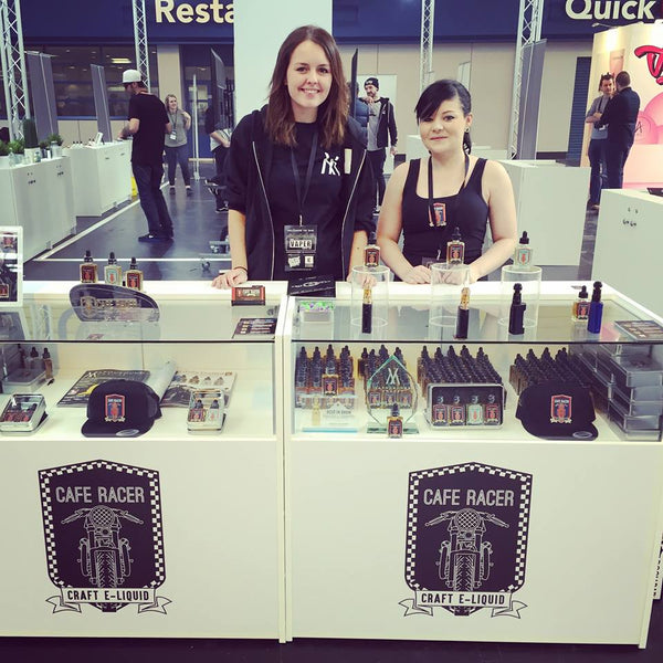 Cafe Racer stand at the Vaper Expo UK 2016 Birmingham