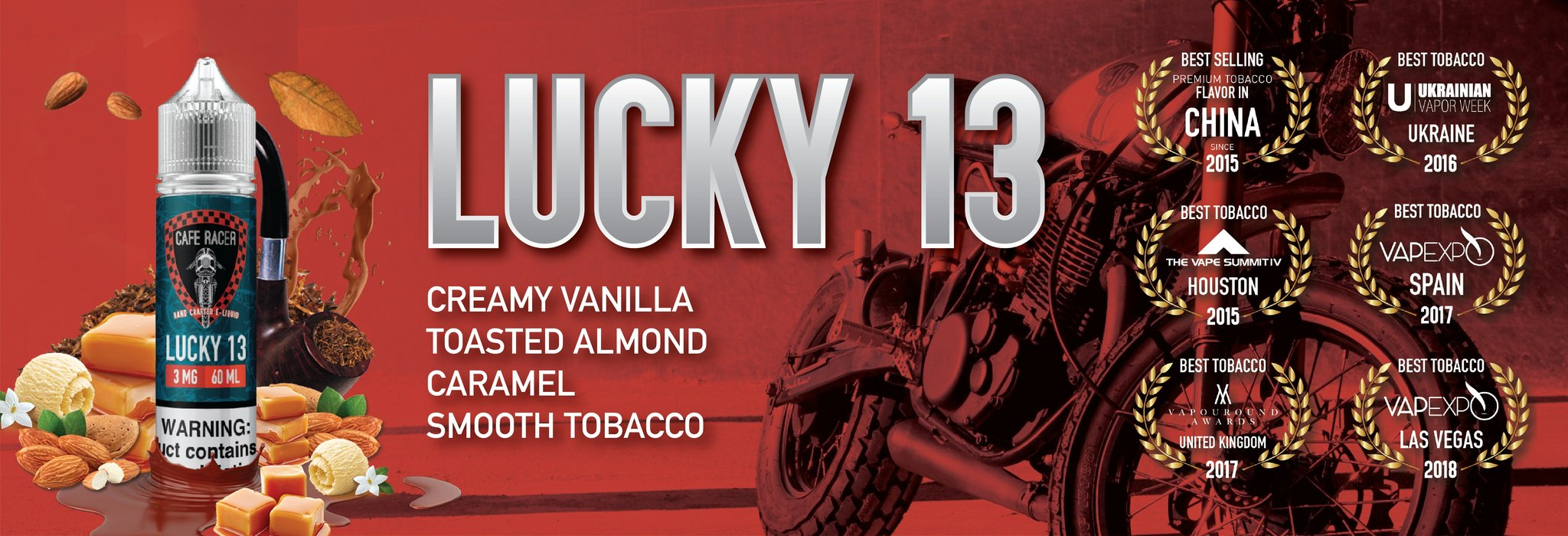Lucky 13 by Cafe Racer Vape | High Quality and Best Value E-juice