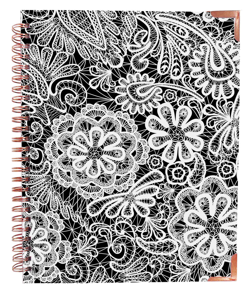 Floral & Lace Rose Gold Notebook