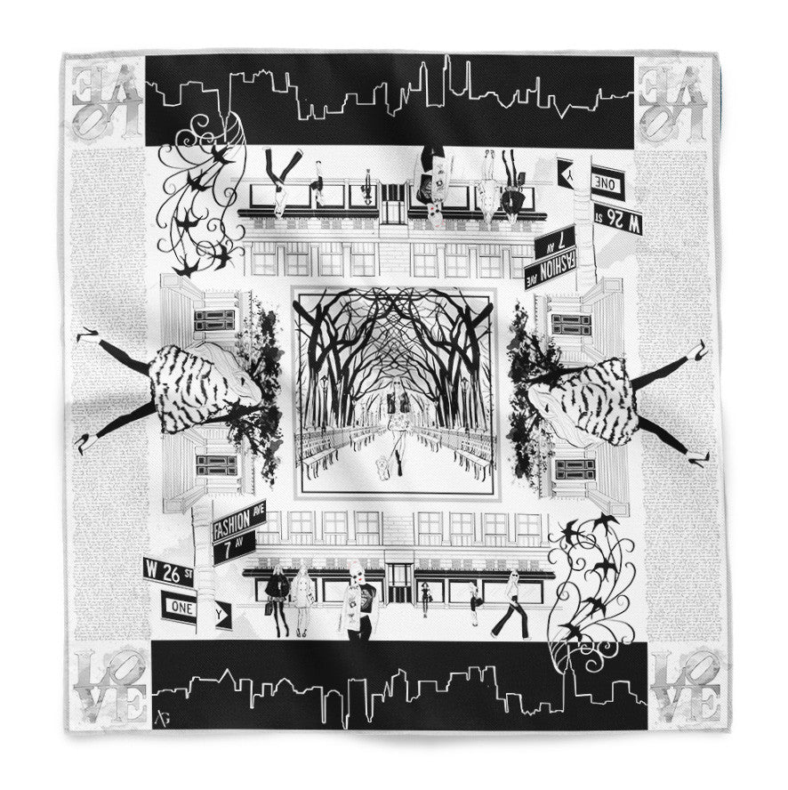 Hello Manhattan Silk Scarf