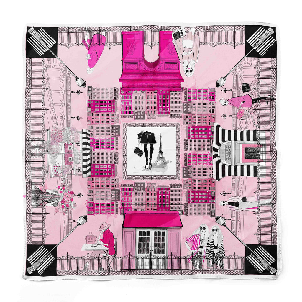J'adore Paris Silk Scarf