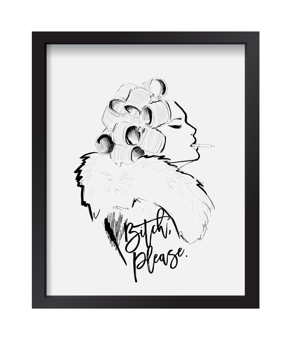 B*#%! Please Art Print
