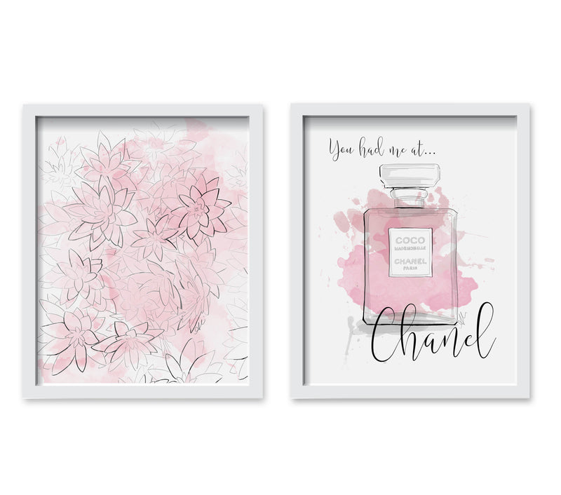 Chanel Flowers Print Set