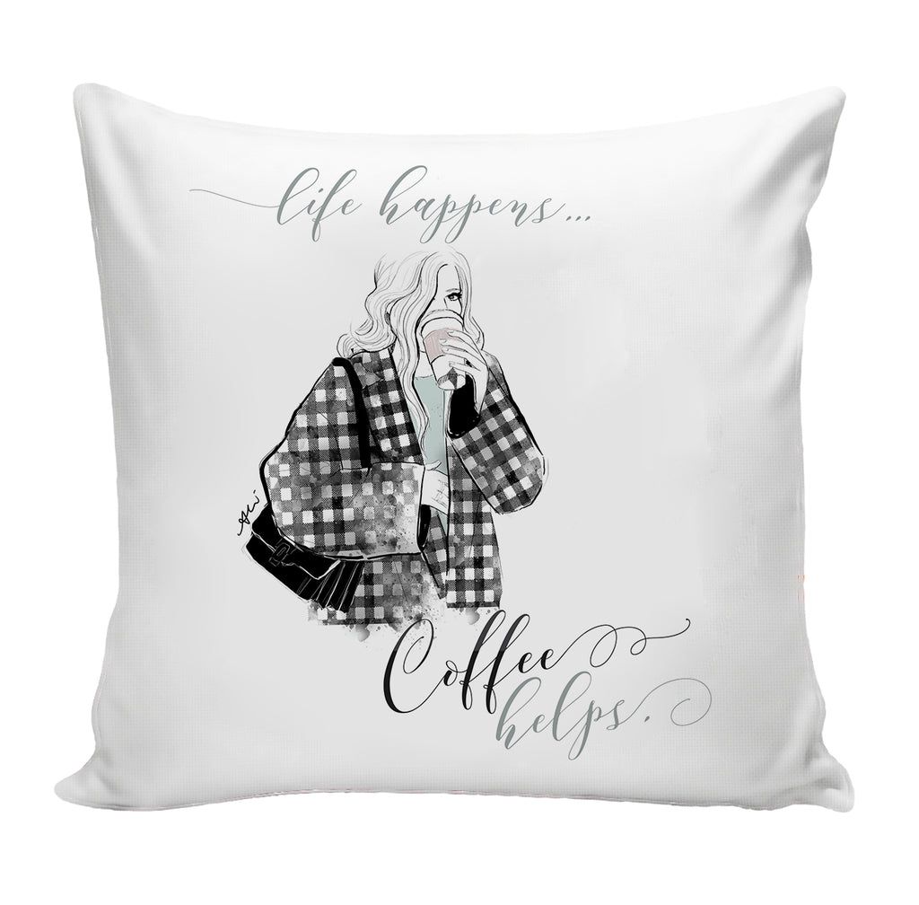 PREORDER Coffee Helps Pillow