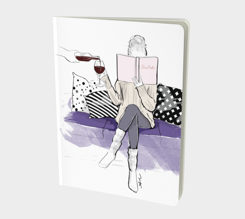 Wine and Book Notebook