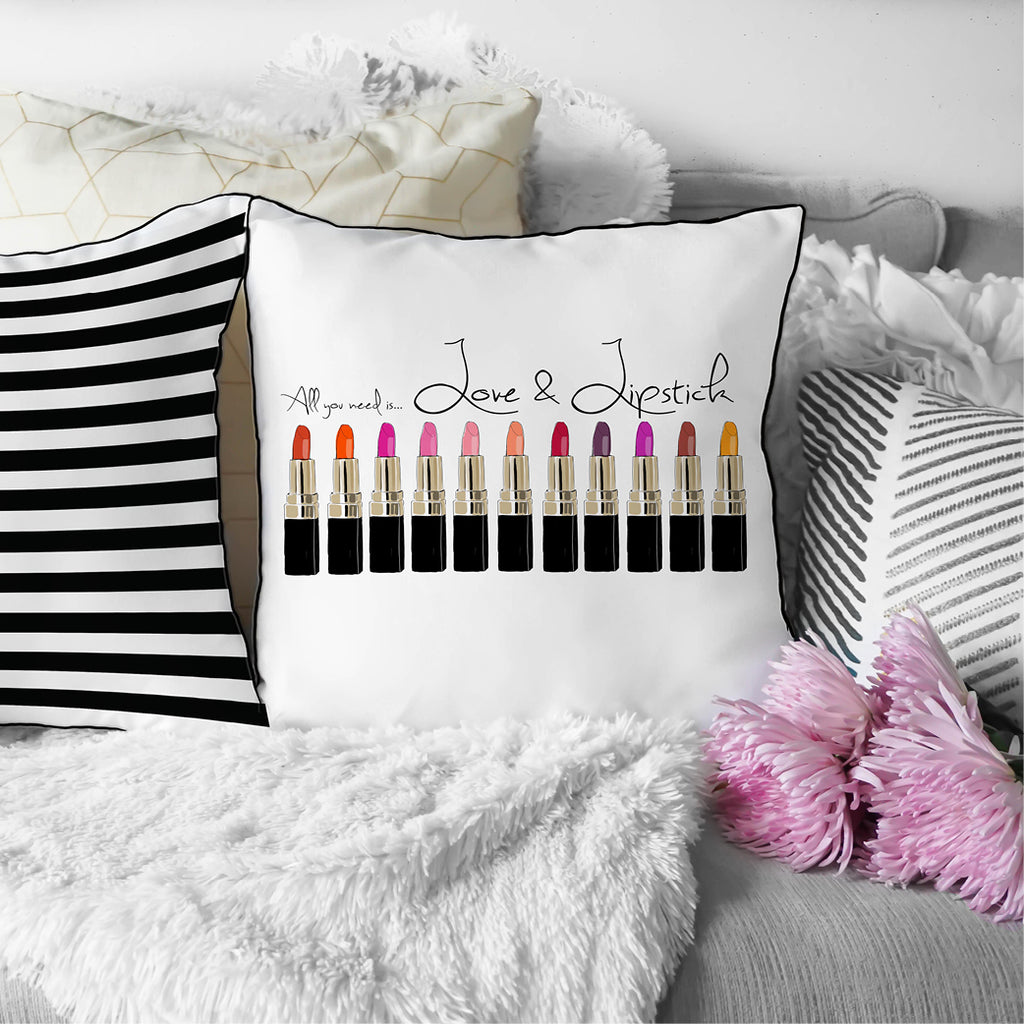 Love & Lipstick Pillow