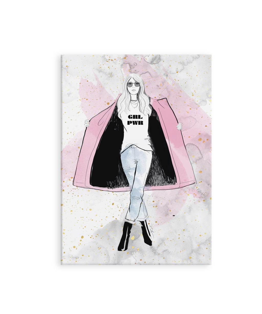 Marble Grl Pwr Mini Notebook