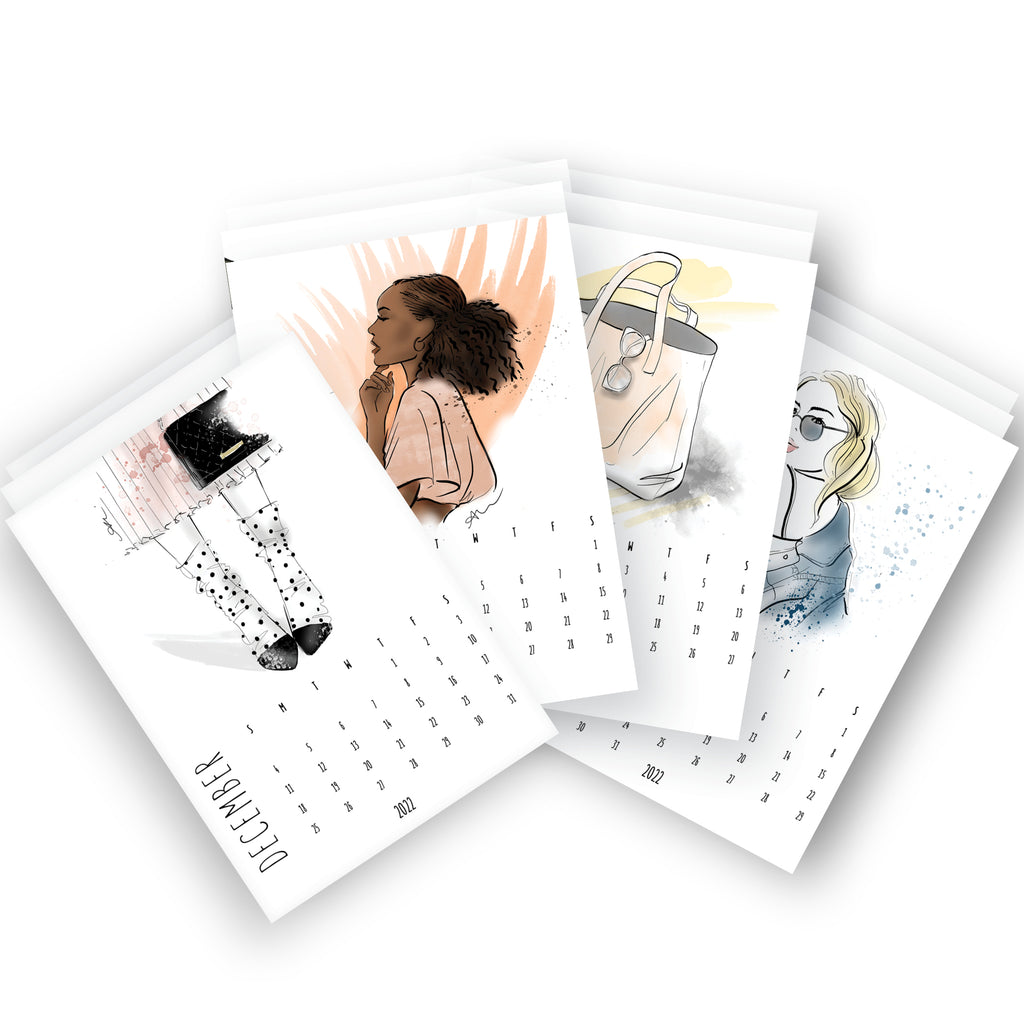 2021 Beauty Desk Calendar Refillable Pack