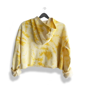 Yellow Tie Dye Cropped Hoodie