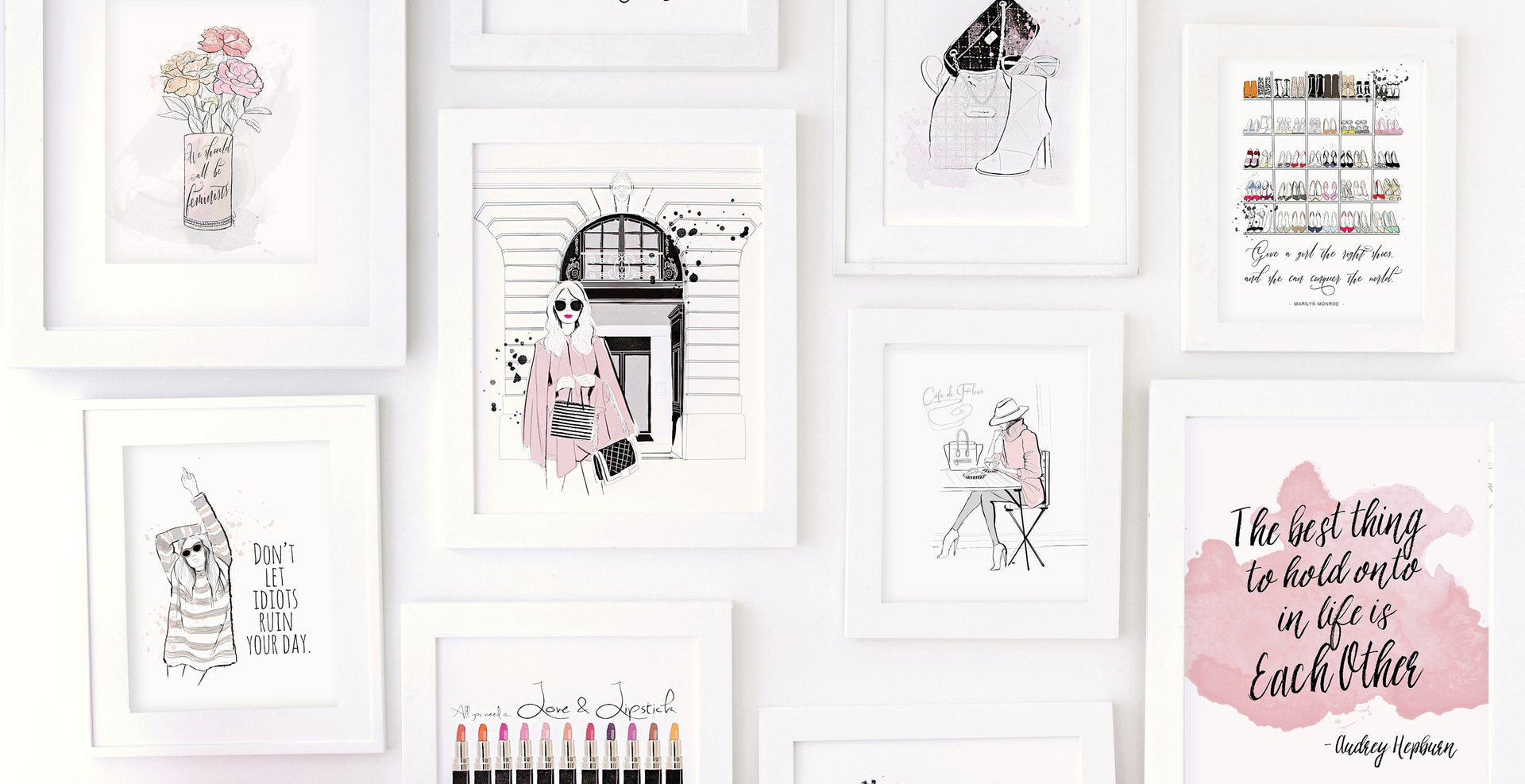 journals fashion illustration stationery