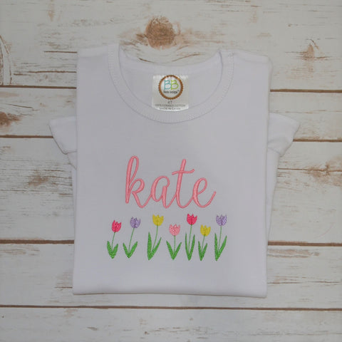 Girl's Spring Tulips Shirt