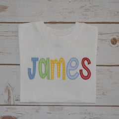 Boy's Appliqued Name Shirt