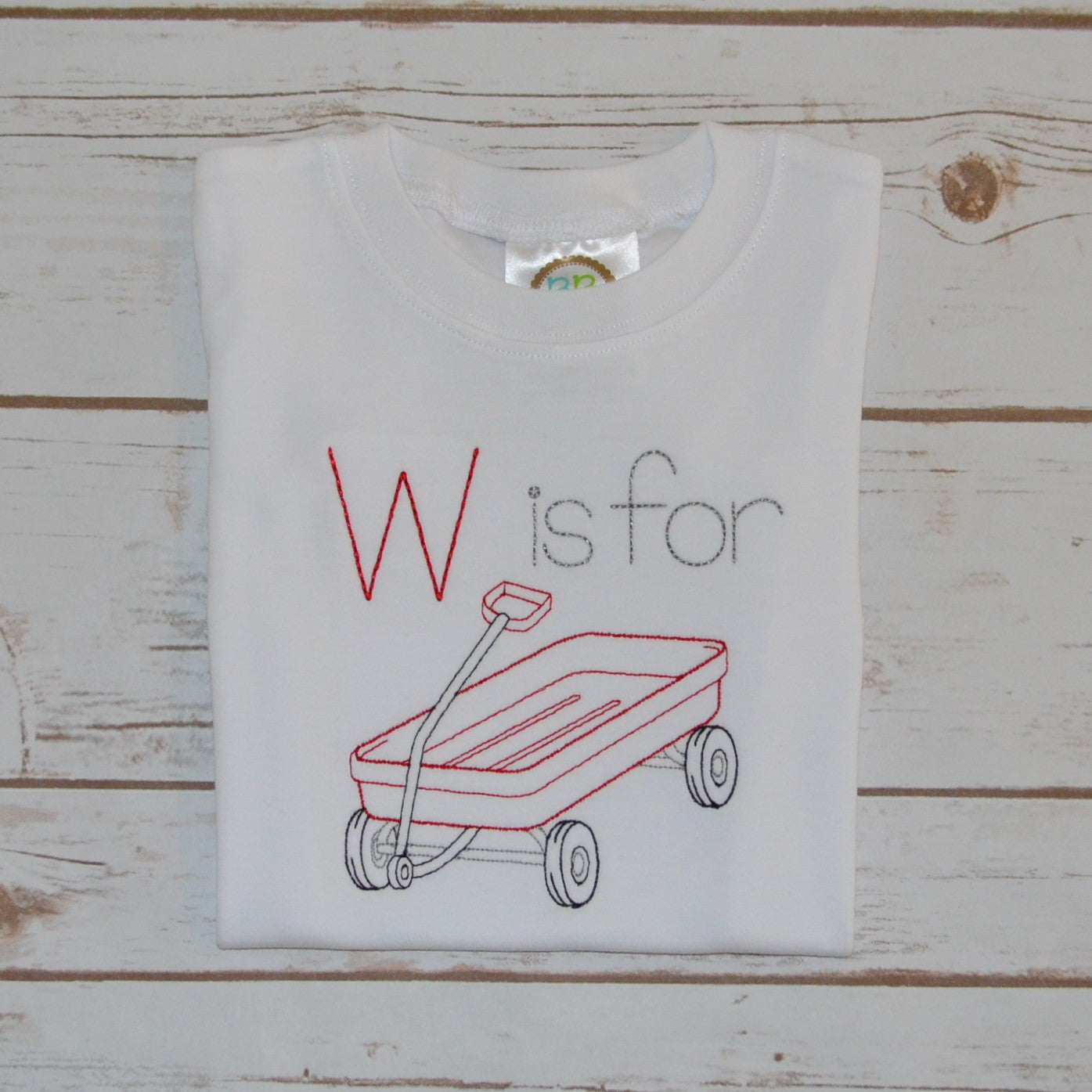 Boy's W is for Wagon Shirt
