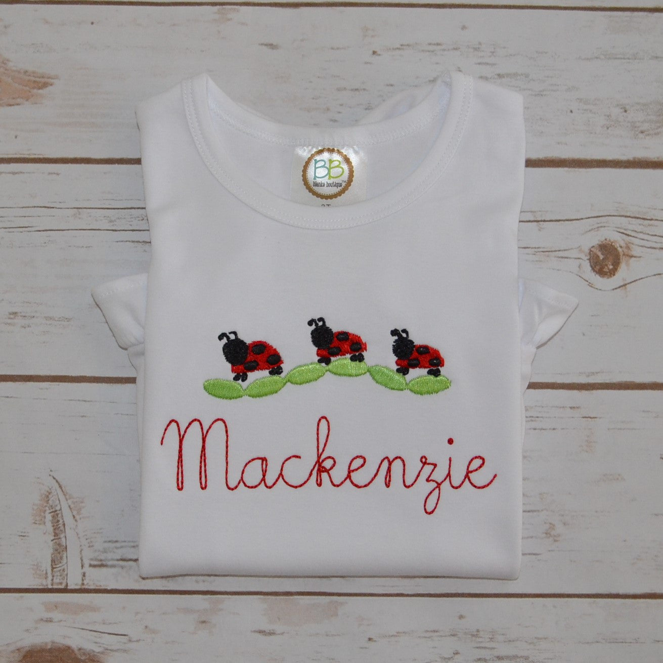 Girl's Little Lady Bugs Shirt