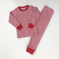 Red Striped Unisex Christmas PJs