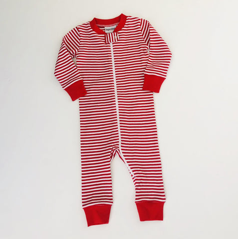Red Striped Drop Seat Christmas PJs