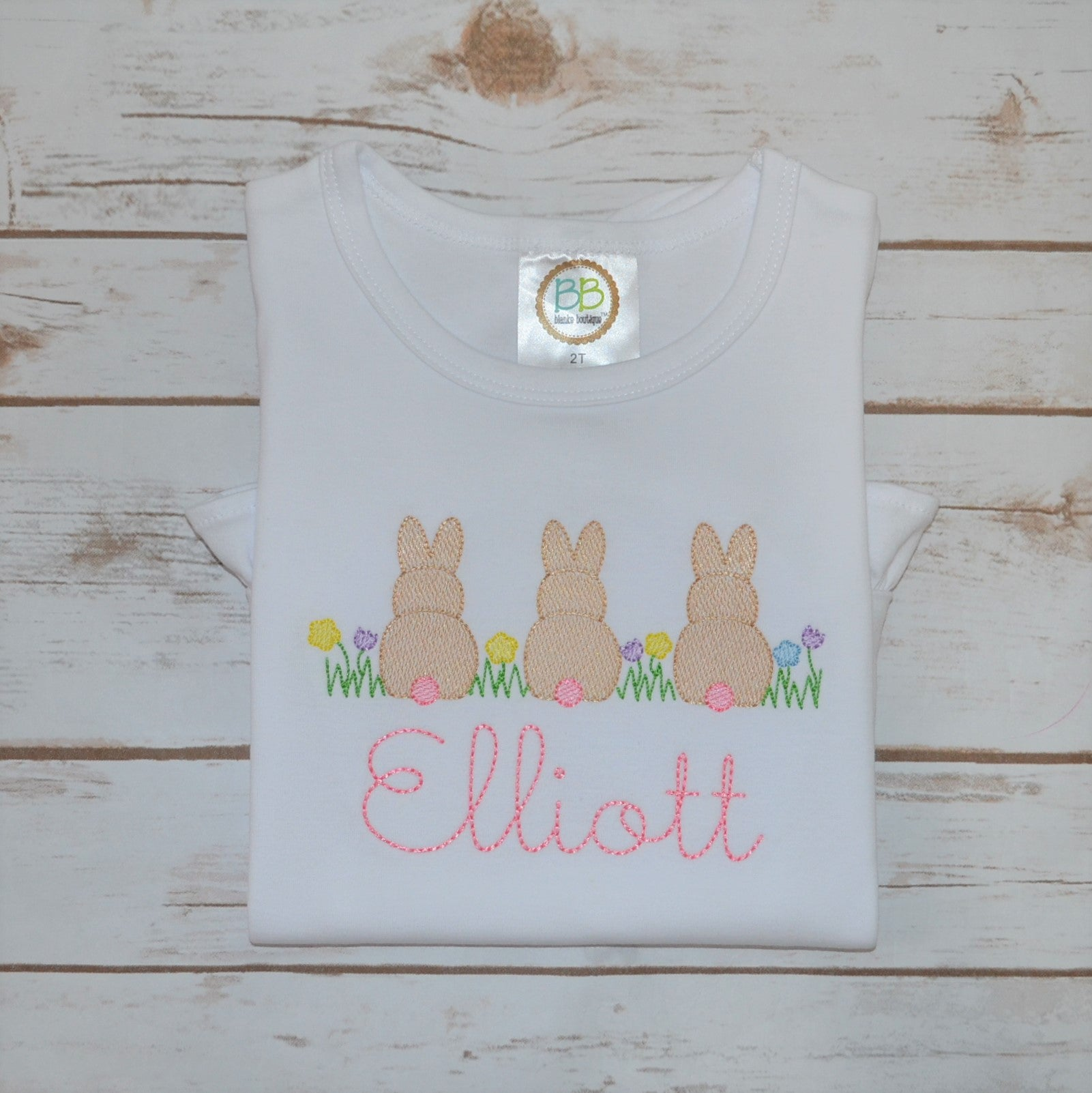 Girl's Spring Bunnies Shirt