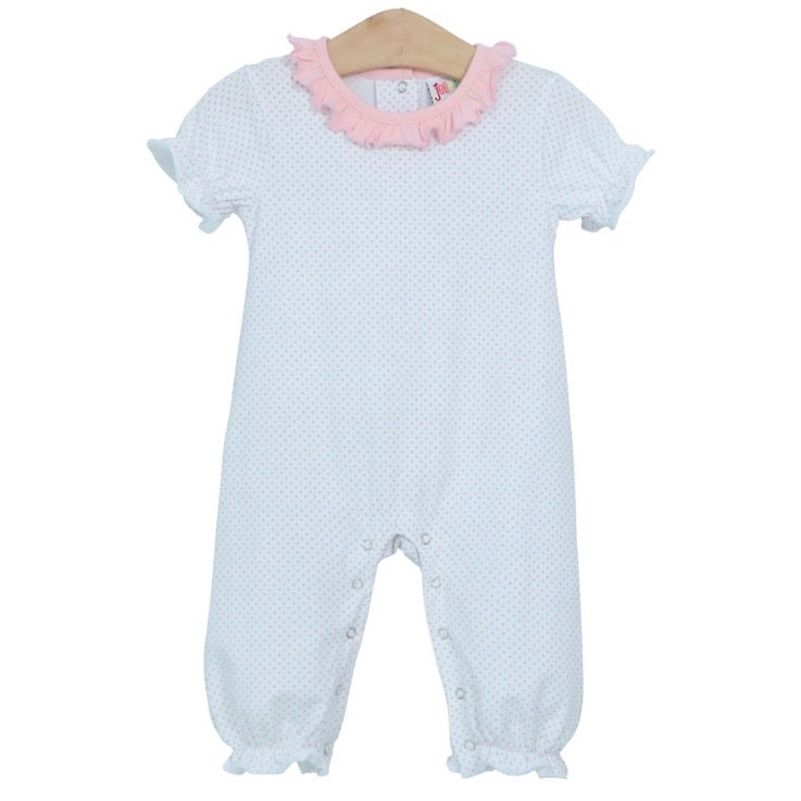 Emily Light Pink Dot Romper