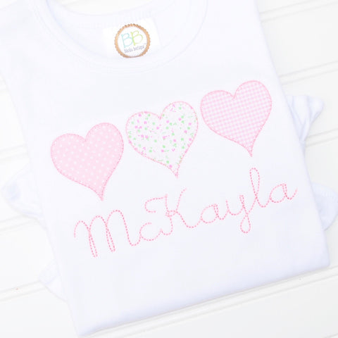 Girls Heart Trio Shirt