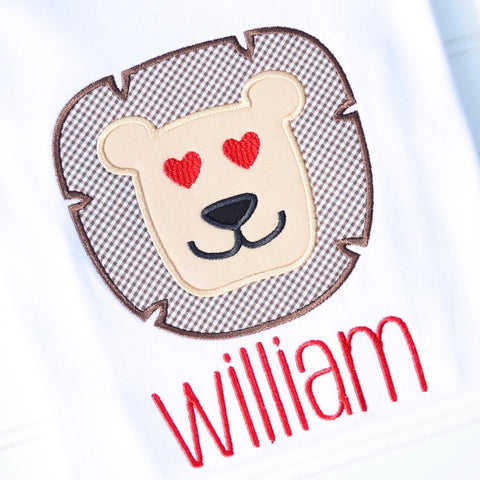 Boys Valentine Lion Shirt