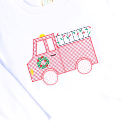 Boys Christmas Firetruck Shirt