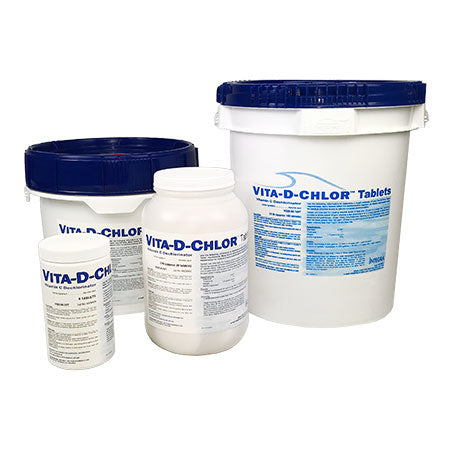 Vita-D-Chlor Tablets for ascorbic acid dechlorination of potable water