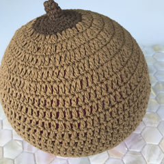 Boob Beanie - Hand Knitted Boobie Beanie Milk Chocolate with Cocoa Tip