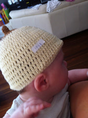 breastfeeding baby bonnet