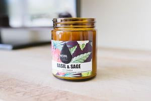 Natural Annie Basil & Sage Soy Candle