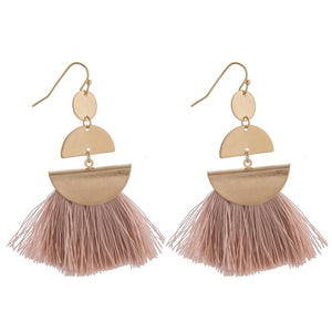 PINK TASSLE EARRINGS