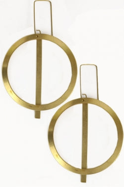 Circle Brass Earrings