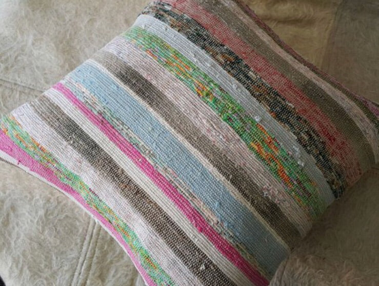 C47 Colorful Stripes Pillow