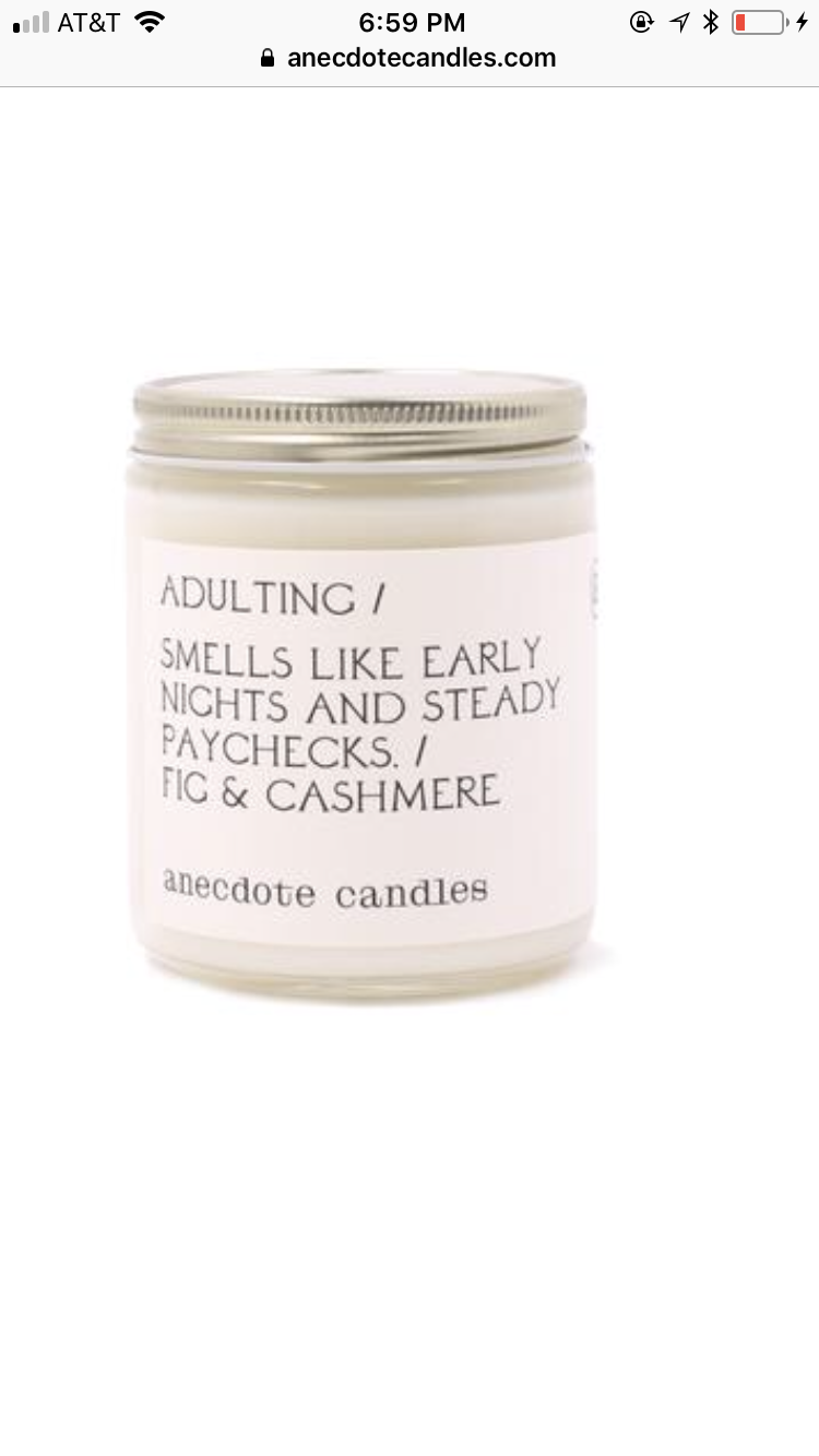 Adulting Soy Candle
