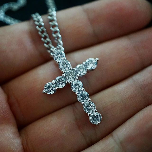 Romulus Cross in White Gold