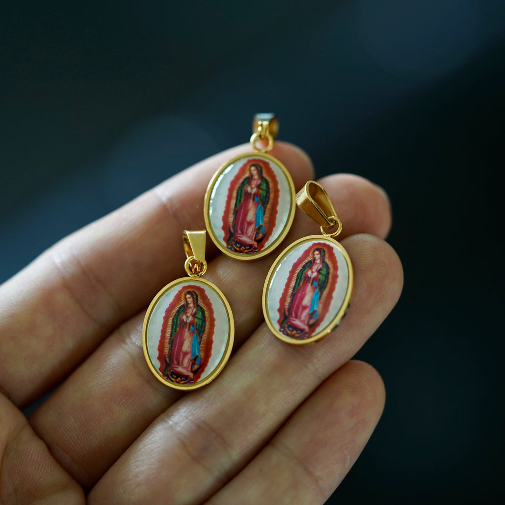 Enamel Virgin Mary