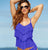 KENNETH COLE REACTION  Tiered Ocean Tankini Swimskirt Set