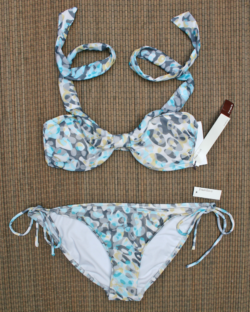 PERRY ELLIS 3 in 1 Tie Bikini Set