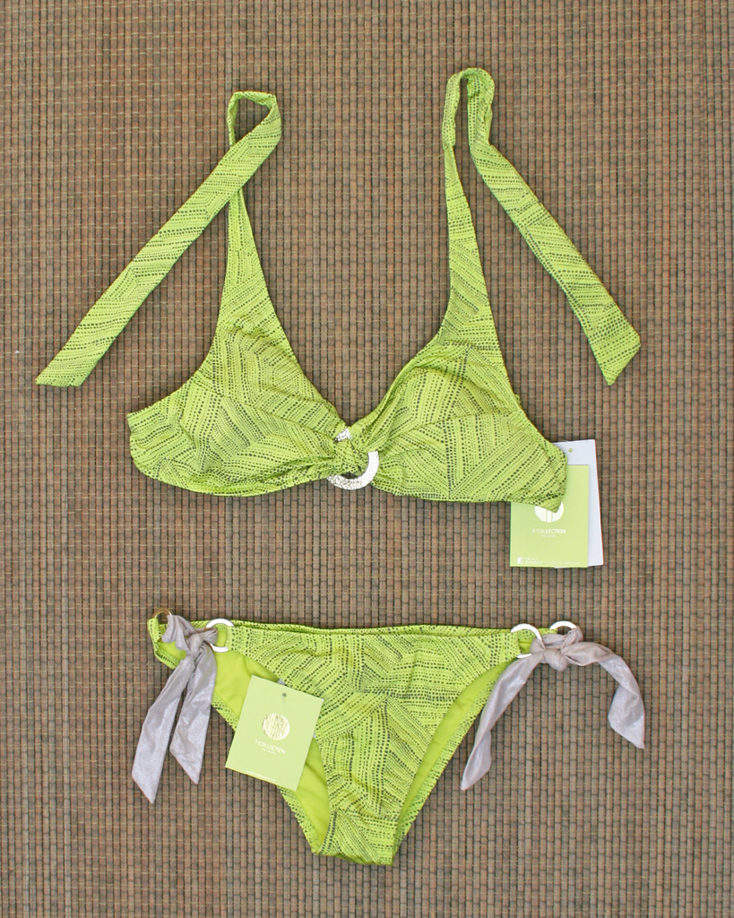 RAISINS Aztec Lime Bikini Set