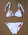 HOT KISS White | Gold Bikini Set
