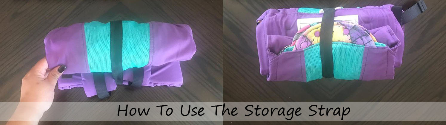How to use the Kinderpack Storage Strap