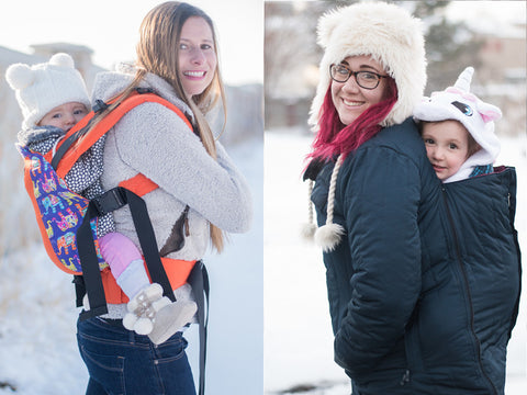 Winter Babywearing In The Snow