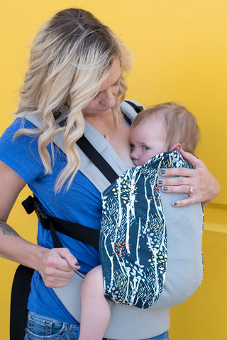 breastfeeding in your Kinderpack- Tighten shoulder straps